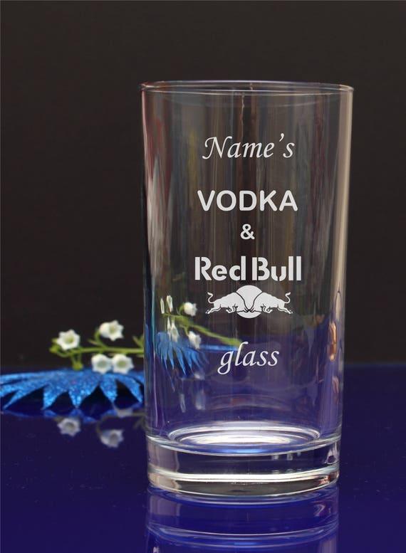 Personalised engraved crystal highball vodka glass Wedding Birthdays Gift Boxed