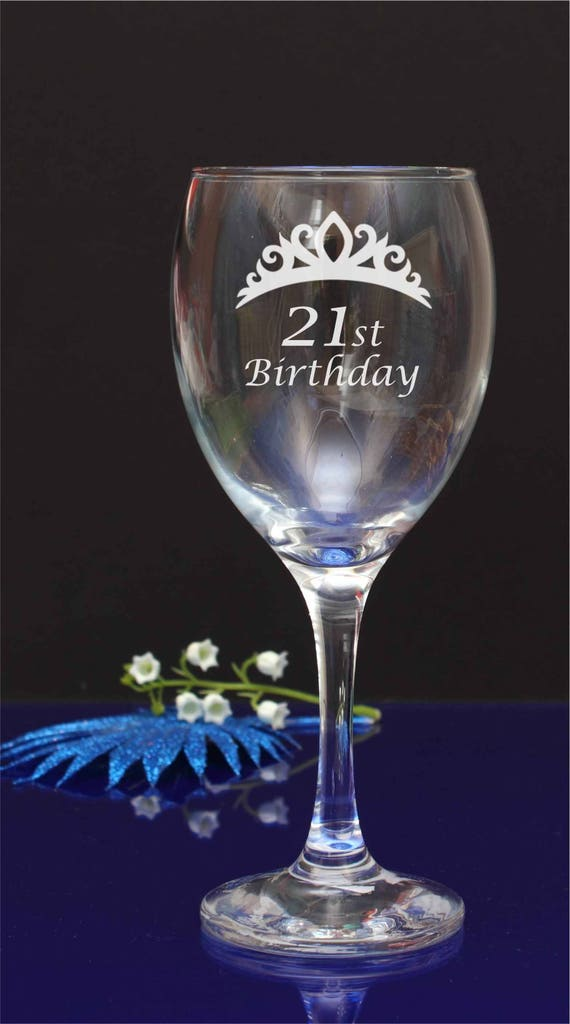 1 x personalised wine glass birthday charms