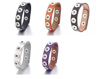 d83f395c3d52 Snap Bracelet Leather Cuff