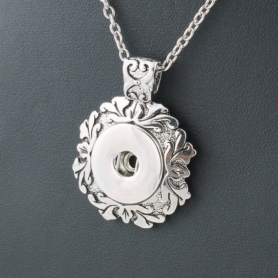 Silver Square Pendant 12mm Mini Petite Snap Interchangeable For Ginger Snaps