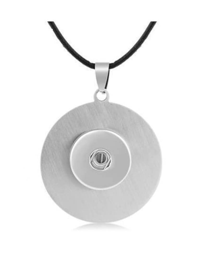 Black Leather 18mm /& 20mm Snap Charm Necklace for Ginger Snaps Jewelry