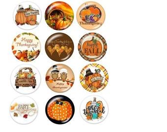 Thanksgiving Snaps, Fall Snaps, Pumpkin Snaps, Happy Thanksgiving, Happy Fall, Be Thankful, Fits 18mm Ginger Snaps, Magnolia & Vine, SC42-B