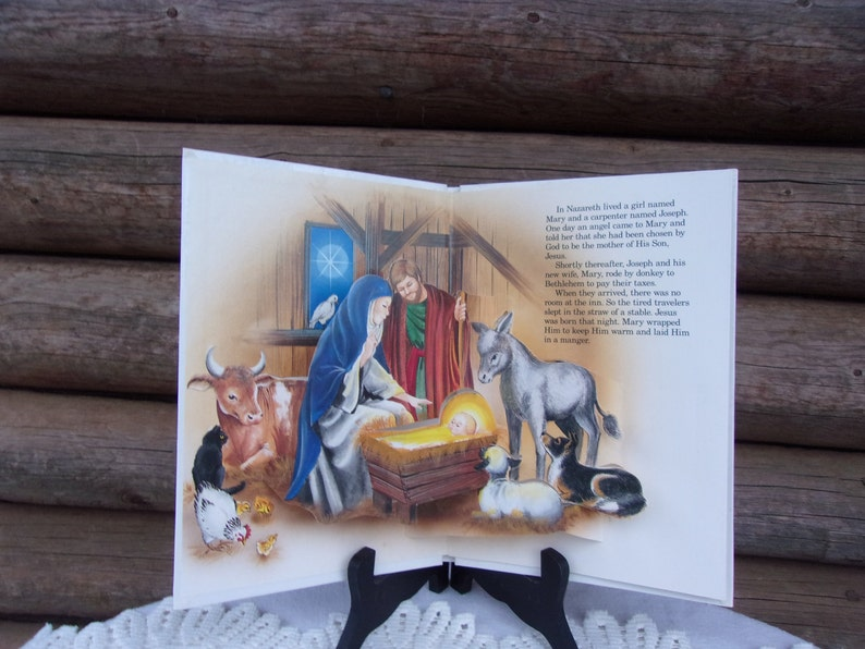 The Christmas Story A Pop-Up Book, Publishing Clearing House 1989, Pop-Up  Nativity Scenes, Christmas Book