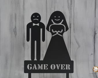 Wedding Cake Topper ,,GAME OVER'' different sizes