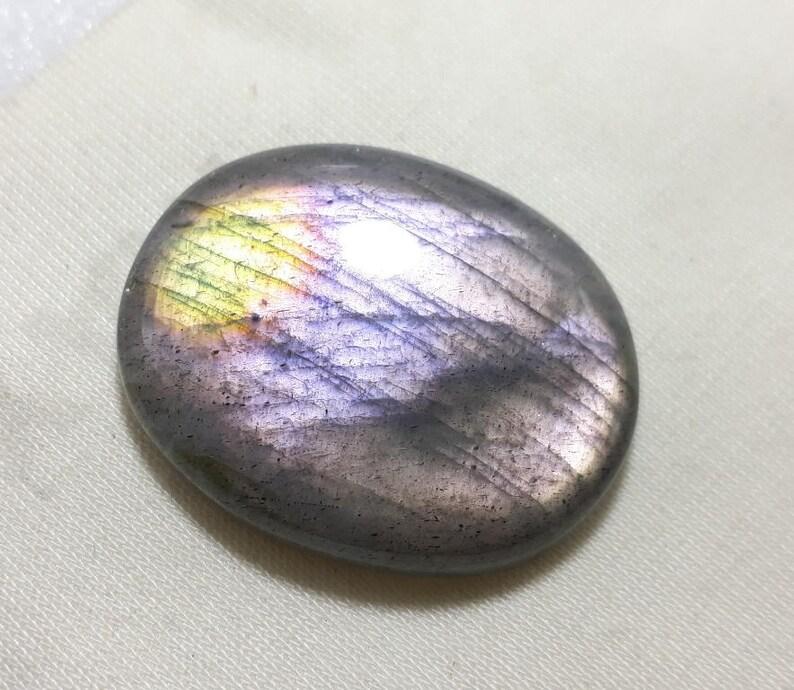Natural  Labradorite purple  Gemstone Cabochon Rare Quality Making Pendant Labradorite Gemstone Fancy Shape 85  Cts Size 35x34x9   P1#380