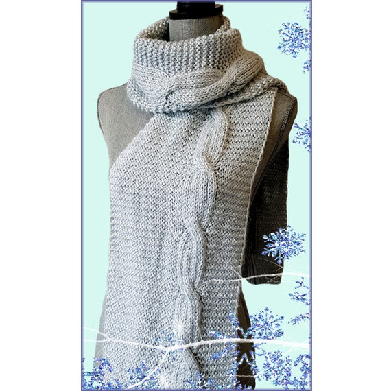 Beginners Pattern Easy Cable Scarf Pdf Knitting Pattern Etsy