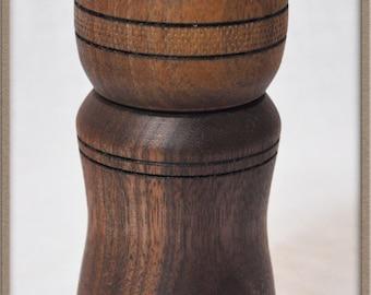 324 Handmade Black Walnut Wood Wooden Pepper Mill Grinder And Salt Shaker Hand Crafted
