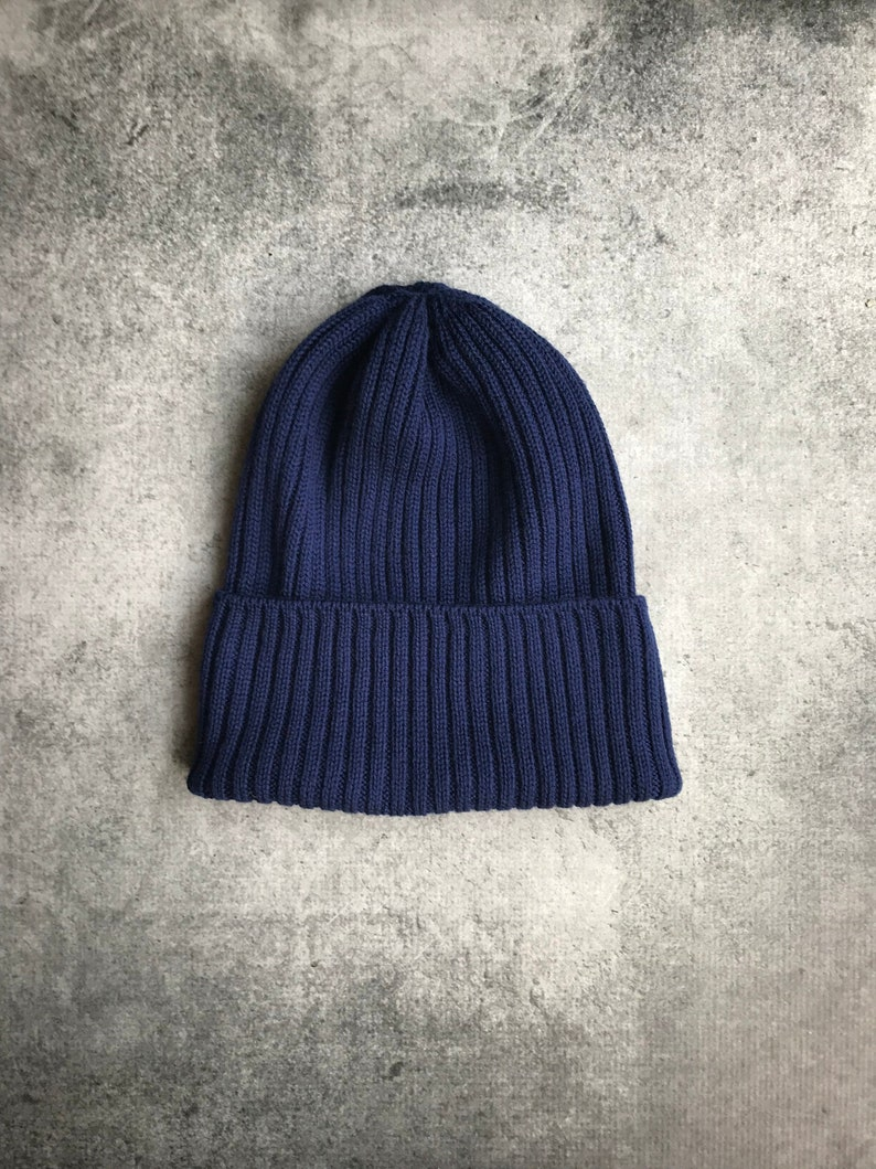 23d99e7cbc9 Ribbed Beanie Fisherman Rib Hat Watchman Hat Fold Over