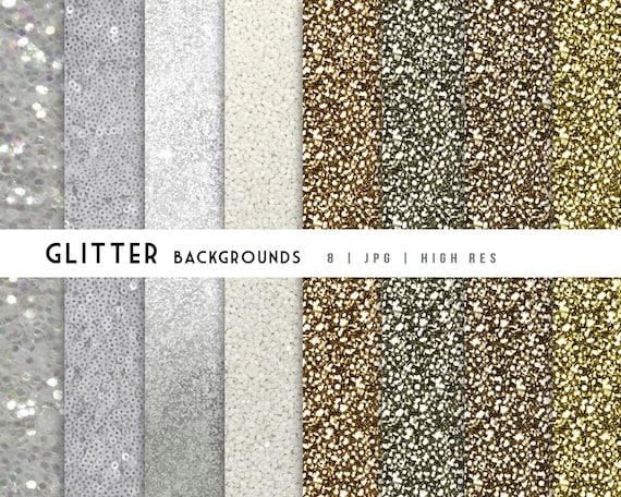 Silver Gold Paillettes Papier Peint Paillettes Bundle Etsy