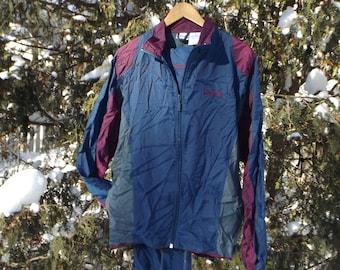RAD 80s Tracksuit 2 Piece Windbreaker, Vintage Track Jacket, Brooks Sports, Vintage Windbreaker, 90s Windbreaker, track pants, Size Large