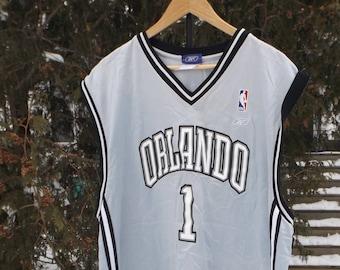 17f6c4496a27 Orlando Magic Jersey Tracy McGrady Orlando Jersey NBA Basketball Jersey  McGrady Number 1 Jersey Reebok Jersey Vintage Reebok Size 2XL XXL
