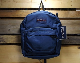 d118097643bd Jansport Backpack Navy Blue Classic Vintage Jansport Bag Deadstock Tag  Still On Backpack 90s School Bag Overnight Minimalist Jansport Bags