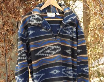 size Extra Large XL Vintage Monochrome Gray Fleece Jacket Men/'s Sweater Soft Pullover Comfy Sweater Jumper 90s Men Fleece Jumper