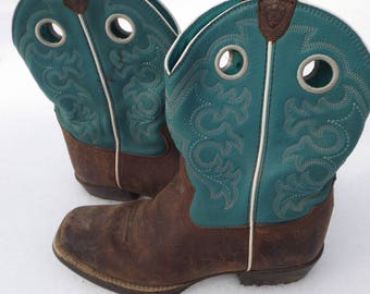 Ariat Boots Womens Size 5 US, Vintage Cowboy Boots Size 5 Womens, Size 4 UK Western Boots Riding Boots Farm Boots Womens Western Boots Comfy