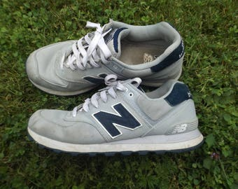 separation shoes 4bfc7 3dc20 New Balance Shoes Vintage, Grey Navy Shoes, NB Running Shoes, Vintage New  Balance, Size 10 US, Size 9.5 UK, Vintage Runners, Trainers, Comfy