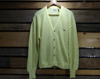 9f08beb1118bb Lacoste Cardigan XL Pastel Sweater Alligator Crocodile Sweater Vintage  Lacoste Cardigan Oversized Comfy Sweater 90s Izod Lacoste Polo 90s