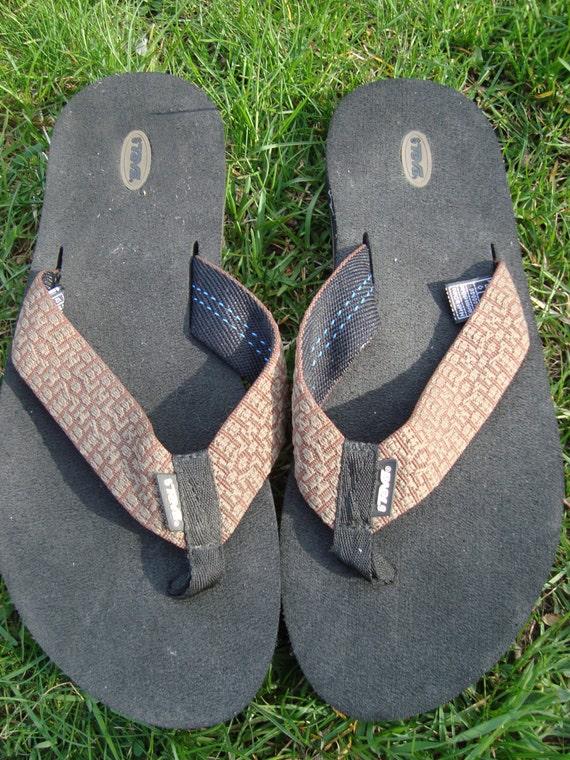 Minimalist 90s Size Beige 11 Sandals Brown Flip Flop Mens Teva Pattern P8wn0kO