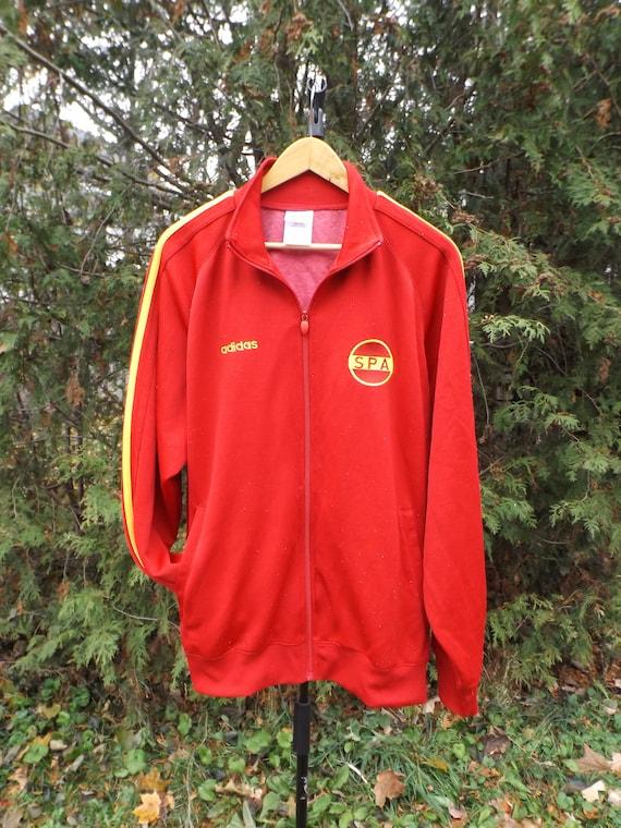 Adidas Track Jacket, Red Adidas Vintage, Spain Adidas Jacket, Adidas Windbreaker Vintage, Vintage Adidas, La Furia Roja, Size Large, 90s