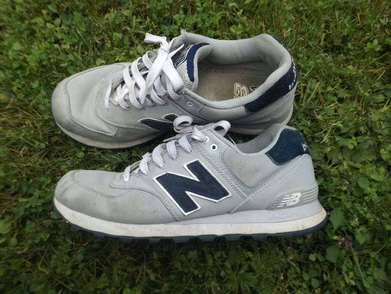 eeadc9945477f New Balance Shoes Vintage Grey Navy Shoes NB Running Shoes