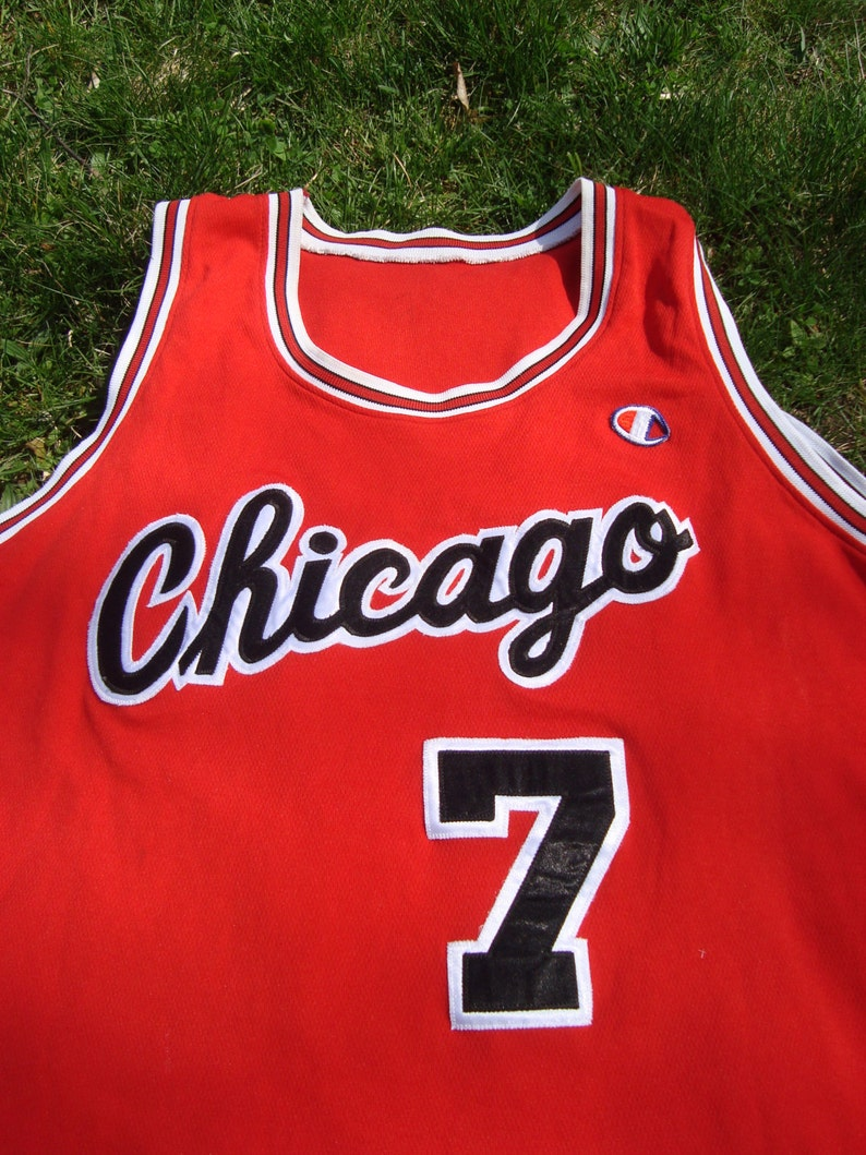 21a5bf983 Champion NBA Jersey Chicago Bulls Number 7 Merced Bulls Tank