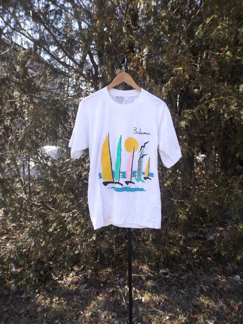 90faf1176 Bahamas tshirt Vintage 80s Tshirt boyfriend tshirt pastel tee | Etsy