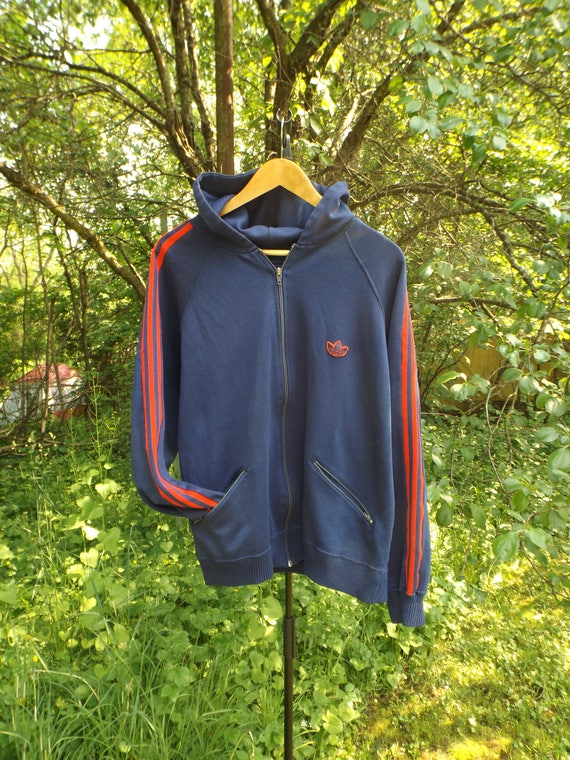 Adidas Vintage Track Jacke 80er Adidas Jacke, Adidas Pullover, Adidas Pullover, Adidas Windbreaker, Hip Hop Adidas, 70er Jahre Adidas, XL