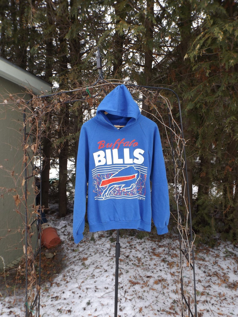 huge selection of 357eb c9b77 1992 Buffalo Bills Hoodie Vintage 90s NFL Football Hoodie Sweatshirt  Buffalo Bills Shirt Size LARGE Comfy Hoodie New York Hoodie 1990s Bills