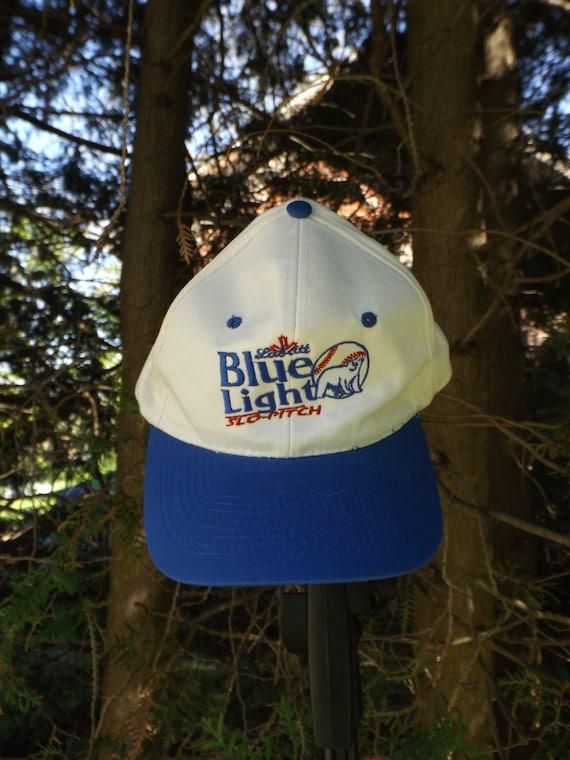 Labatts Blue Light Hat 90s Slo Pitch Vintage Baseball Hat Labbats Blue Hat Beer Hat 90s Vintage Beer Hats Snapback 90s Slow Pitch Polar Bear