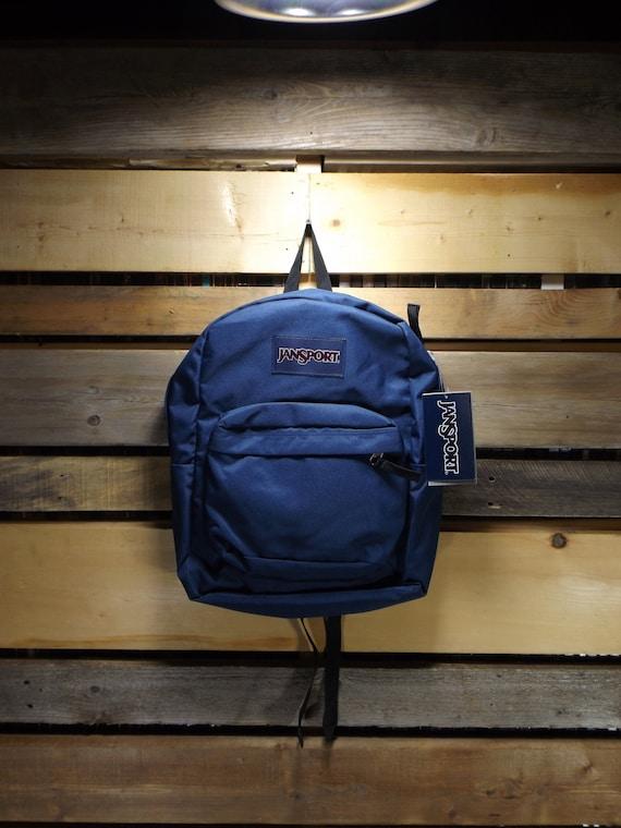 Jansport Backpack Navy Blue Classic Vintage Janspo
