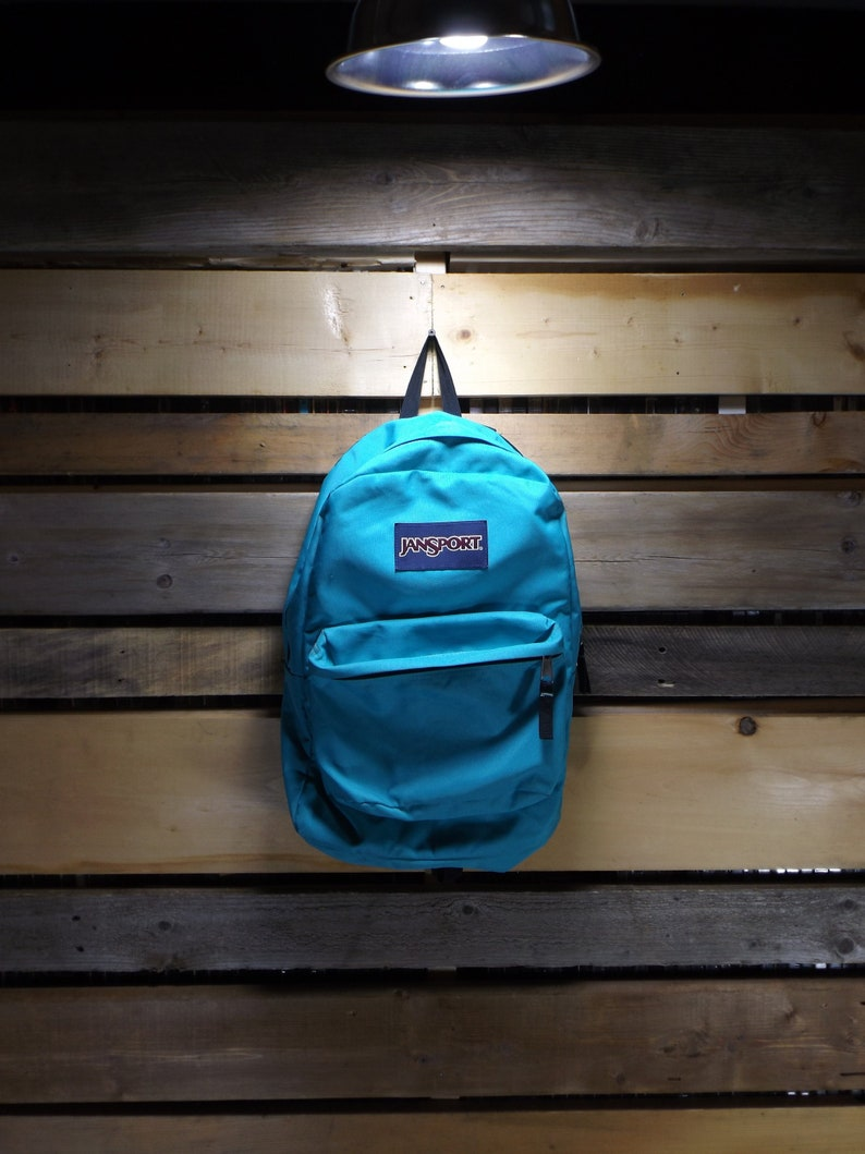 84d60dbad2de Jansport Backpack Teal Jansport Vintage Jansport 90s Black