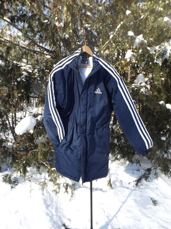 navy blue and white adidas jacket