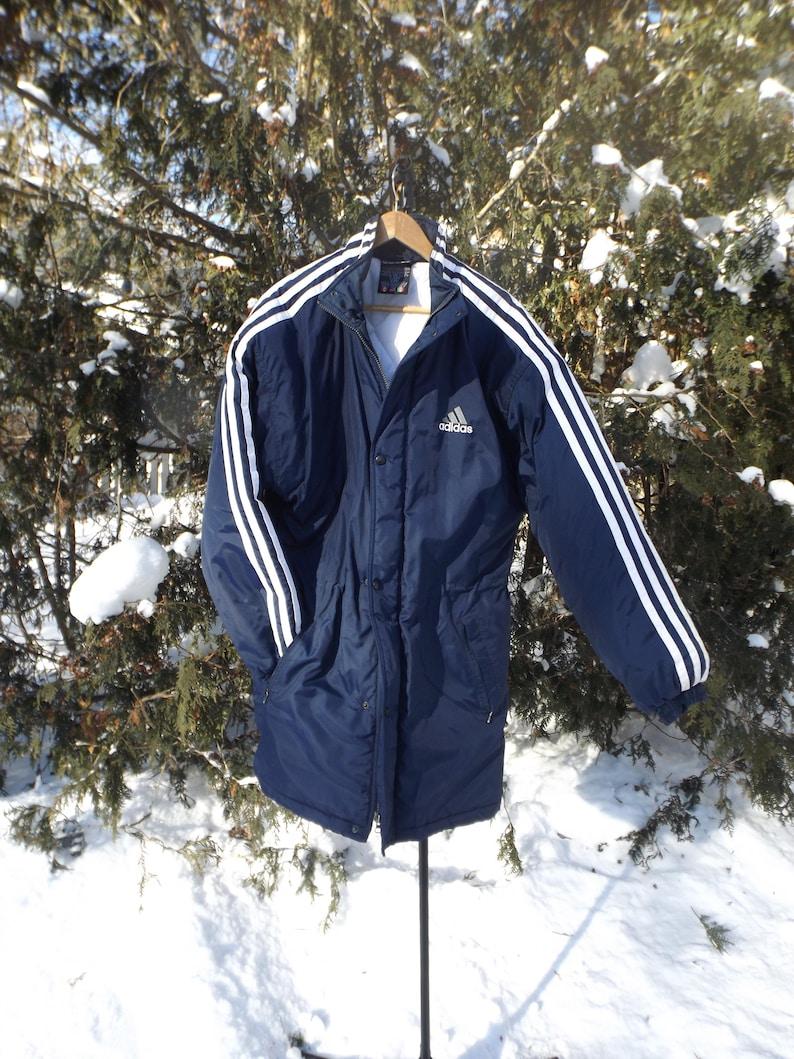 73b8bd59e3e9 Vintage Adidas Jacket Winter Adidas Parka Adidas Logo 90s