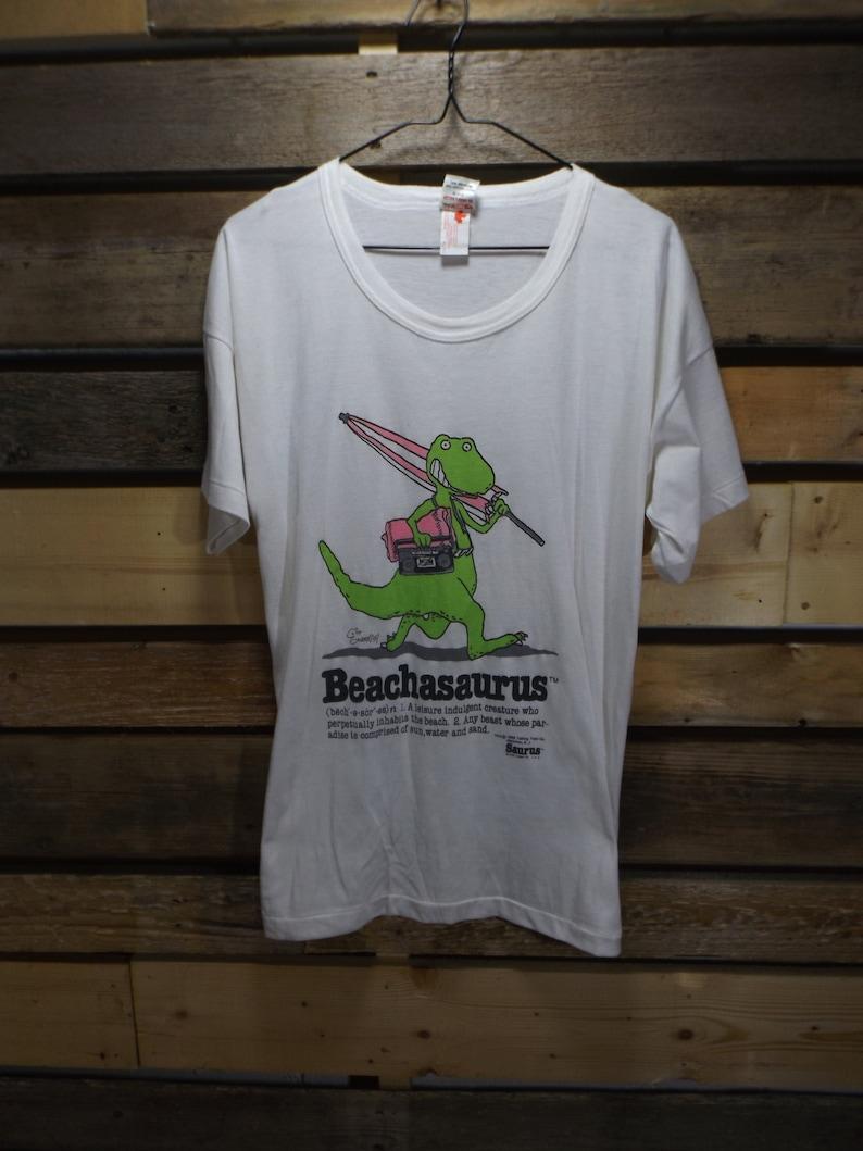 f8a0734fb3 Beachasaurus Tshirt 90s Novelty Tshirt Beachwear Jurassic Park | Etsy