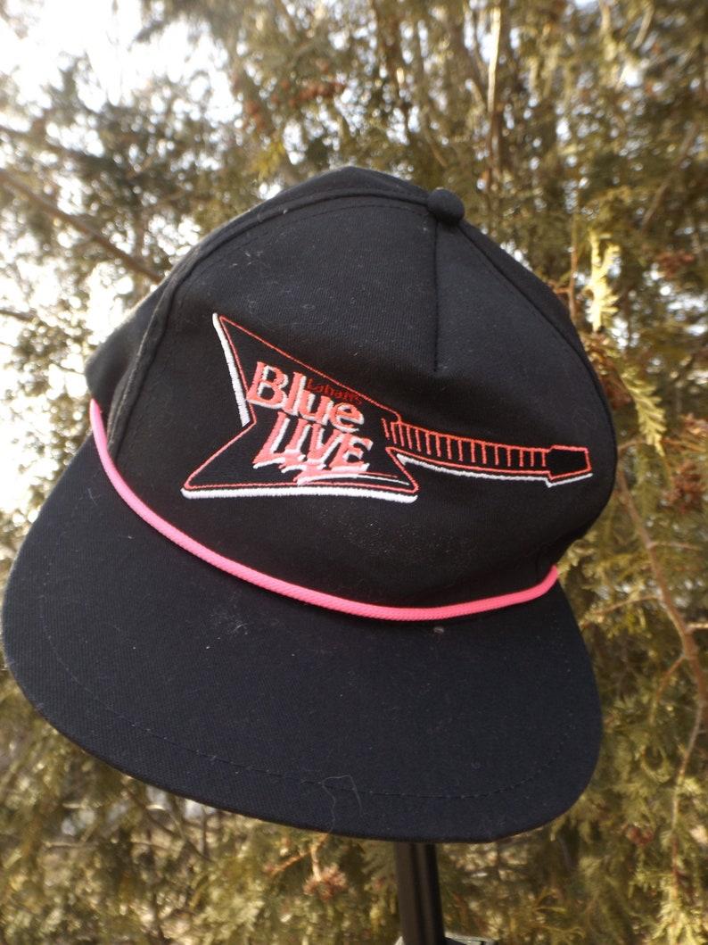 0b8967ae Beer Hat Neon Labatt Blue Rock Hat Vintage Beer Snapback Hat   Etsy