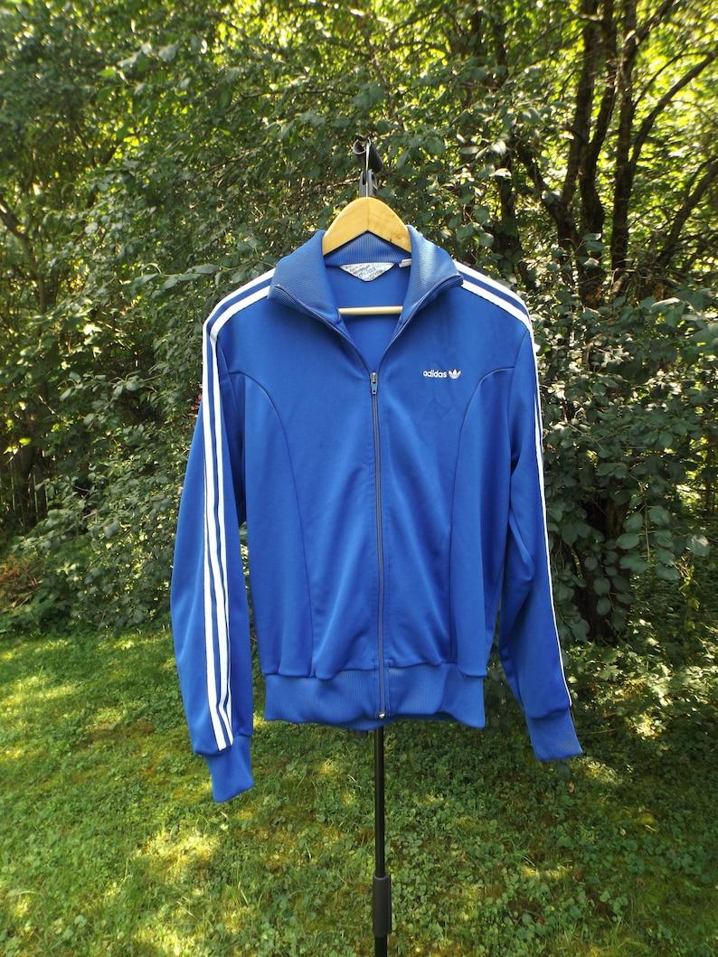 Frauen Adidas Track Jacke Vintage Adidas Womens Trainingsanzug, Womens Large, Hip Hop 80er Vintage, Streetwear, 3 Streifen, ästhetische Kleidung