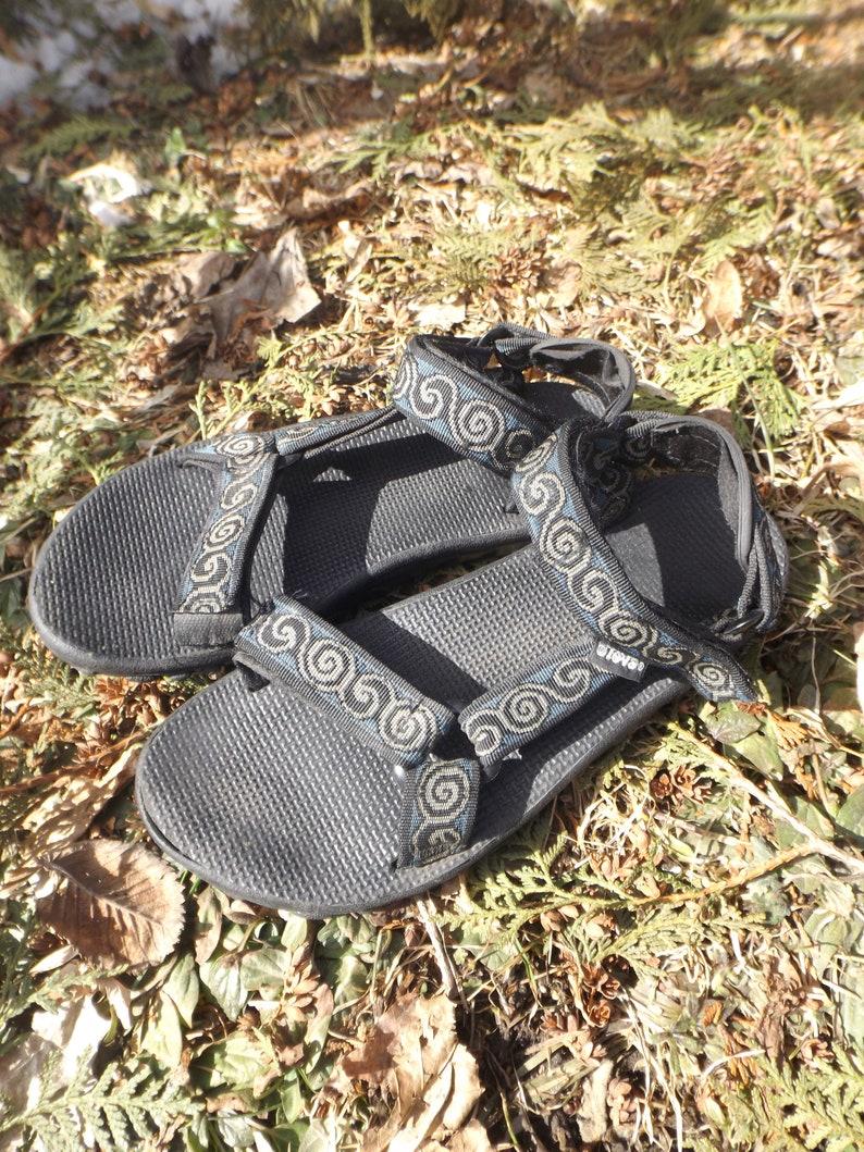 9de5d8cc52688 TEVA Sandals 90s Vintage Tevas Aztec Light Blue Print Strap