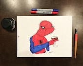 Twitch drawing irl Spoder...