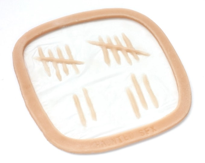 Tally Marks / Silicone prosthetic / Latex free
