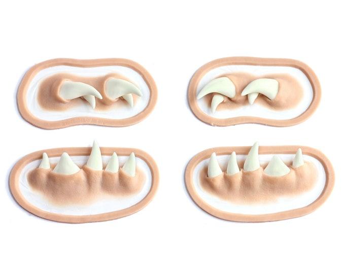 Mileena Fangs / Teeth / Silicone prosthetics / Latex free