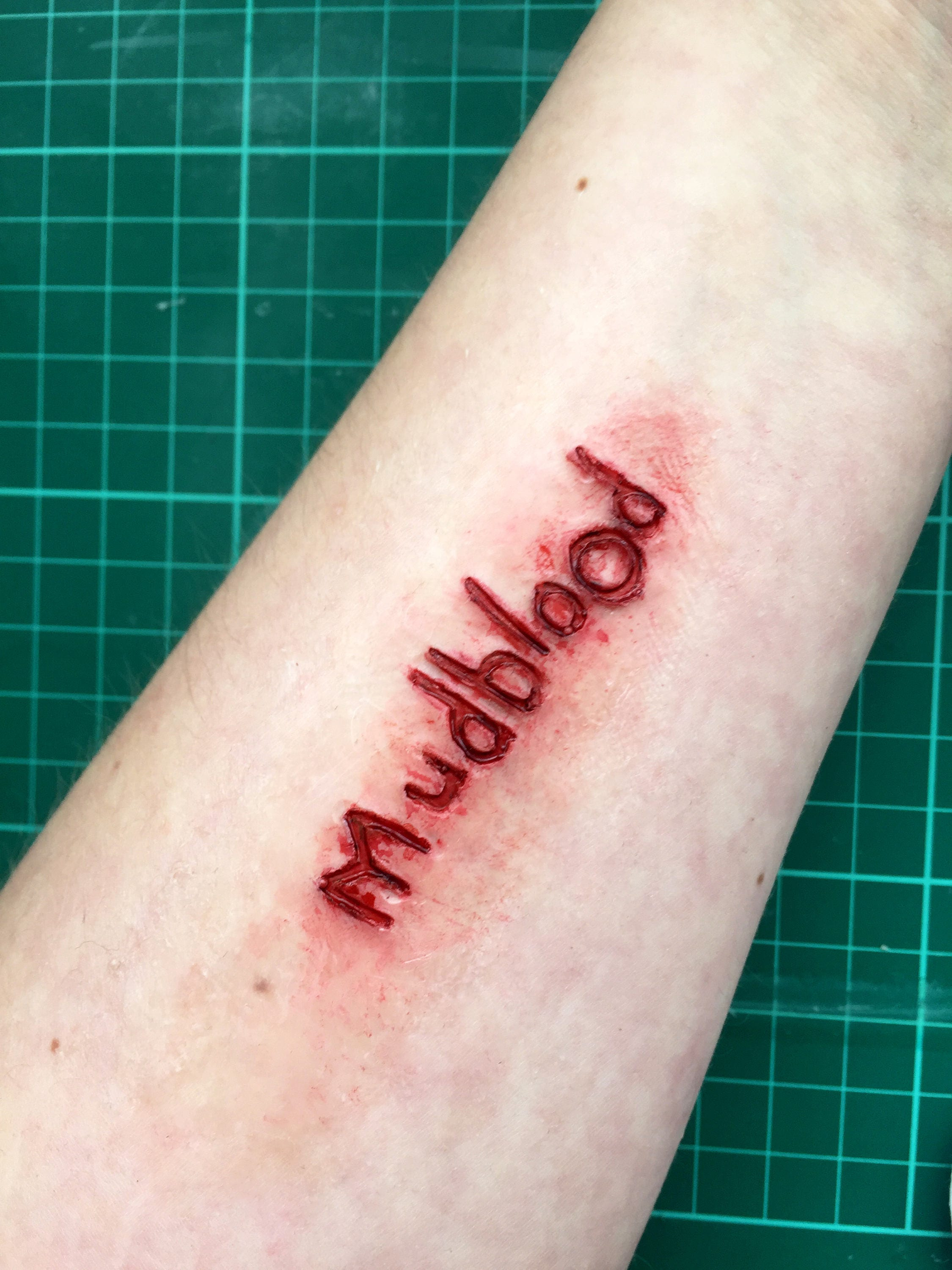 Harry Potter / Mudblood silicone prosthetic / Cosplay /