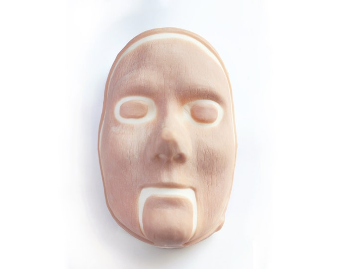 Wooden Mask / Silicone prosthetic / Latex free