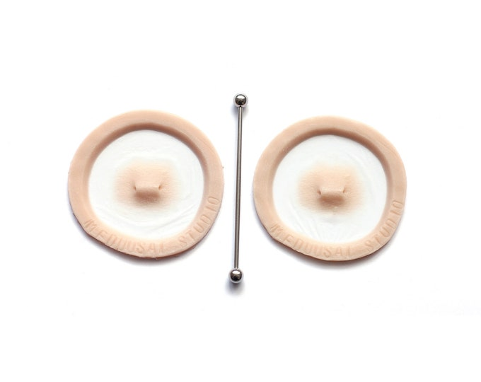 Double Surface Piercing / Silicone prosthetics / Latex Free