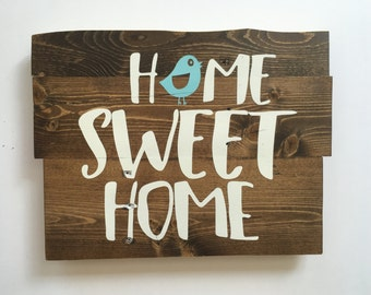 Home Sweet Home, Wooden Sign, Home Decor, Rustic Wooden Sign, Rustic Sign