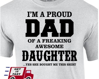 Funny shirt my parents have an awesome daughter t shirt mom for Problemen vader dochter relatie