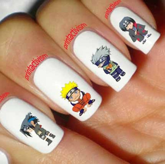 60 Naruto Anime Japan Waterslide OR Peel & Apply Nail Art | Etsy
