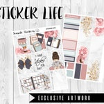 sticker life weekly  kit || erin condren planner stickers || planner notebook bullet journal house fall exclusive artwork art