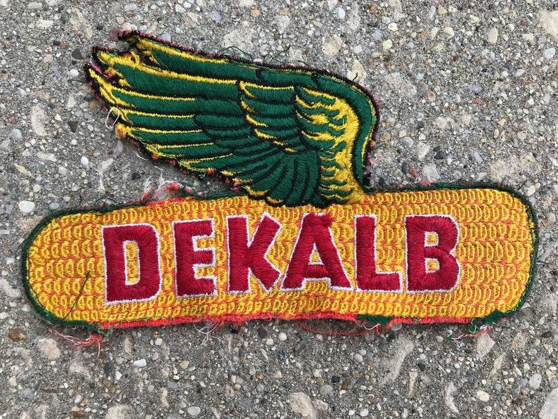 Vintage Dekalb Seed Jacket Patch