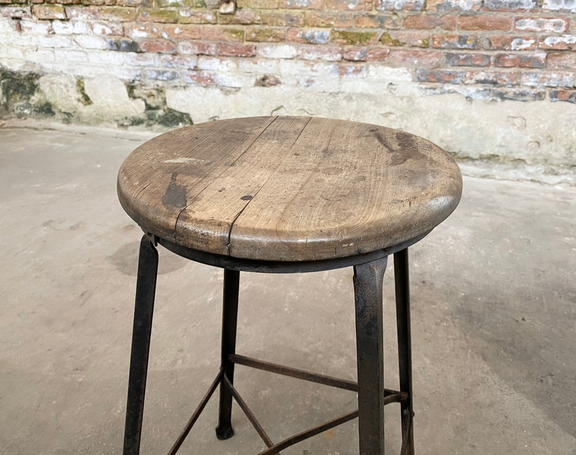 Industrial Angle Steel Stool Co. Vintage Restaurant Seating