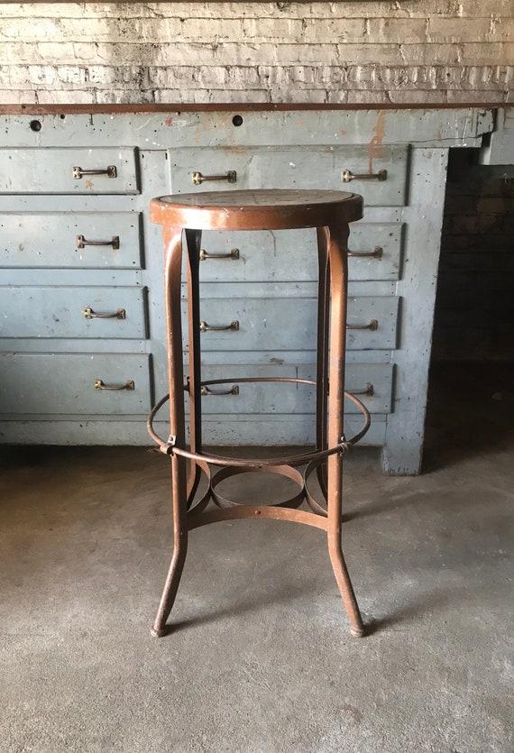 Vintage Toledo Uhl Stool Seat Industrial Restaurant Seating