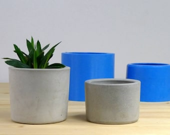 Concrete Planter Mold Geometric Concrete Mould Silicone Etsy